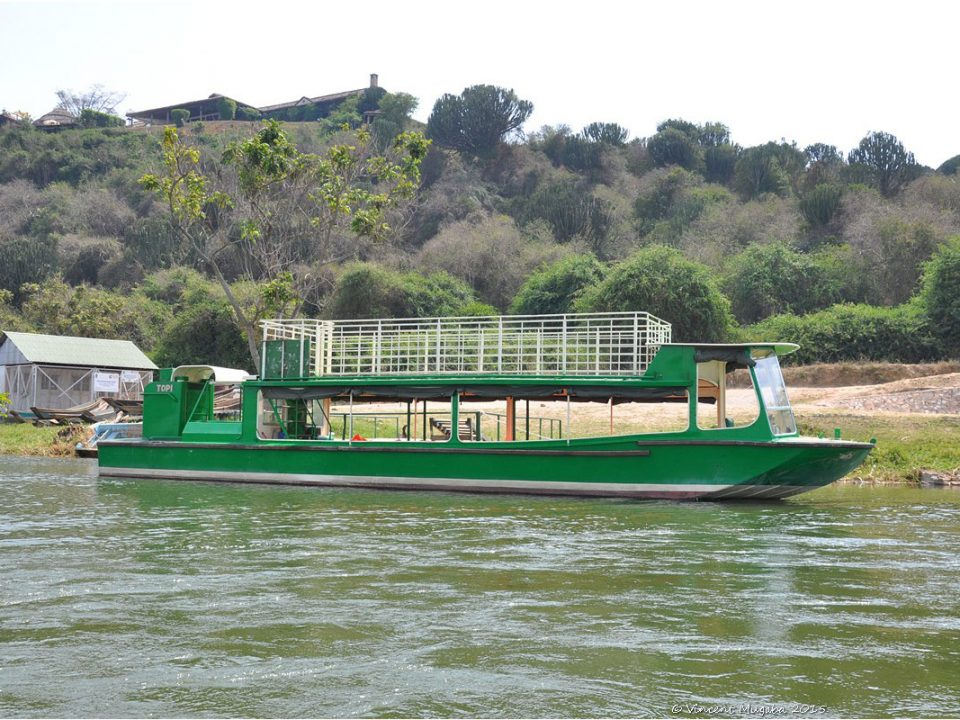 Boat cruise safari on lake Mburo