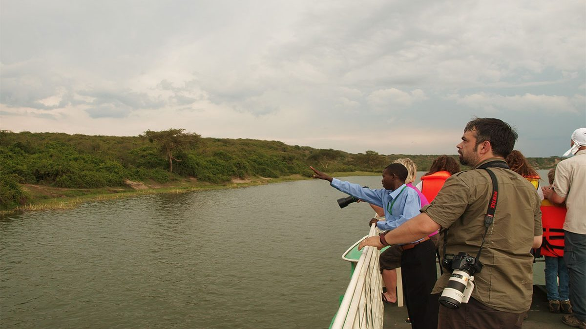 Boat safari on Kazinga channel