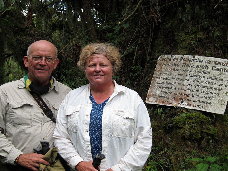 Dian Fossy grave hike Rwanda