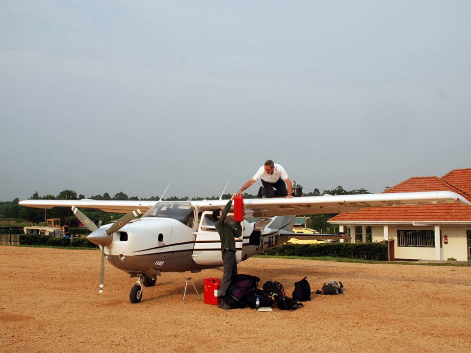 Domestic flights from Entebbe to Kihihi airstrip