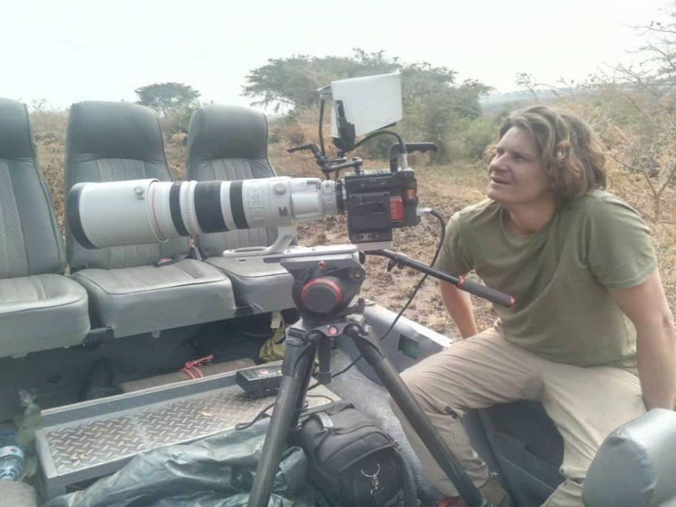 Filming wildlife in Lake Mburo National park