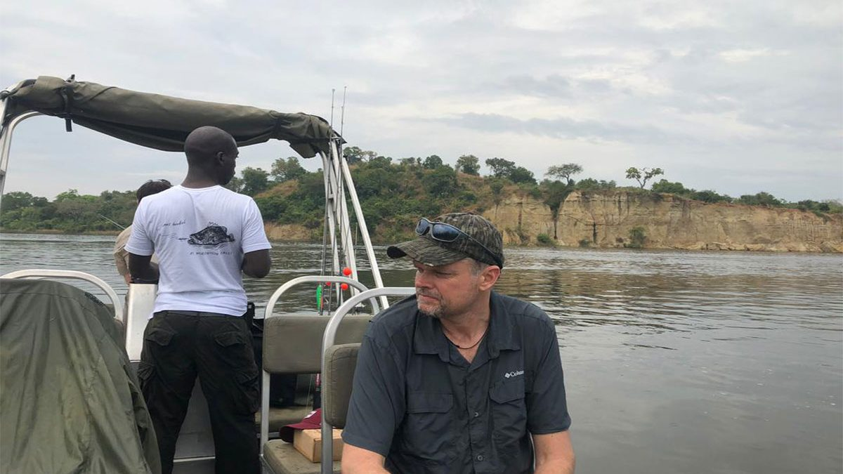 Fishing on the Nile River in Murchison falls
