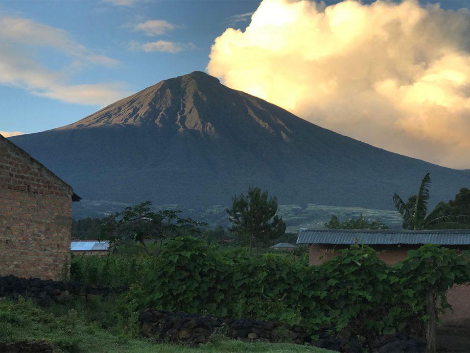 Hiking mount muhabura volcano