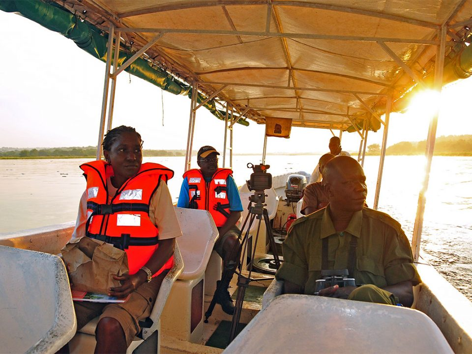 Nile Delta boat cruise in Murchison falls