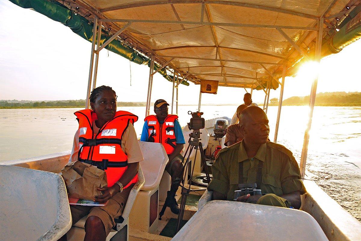 Nile Delta boat cruise in Murchison falls