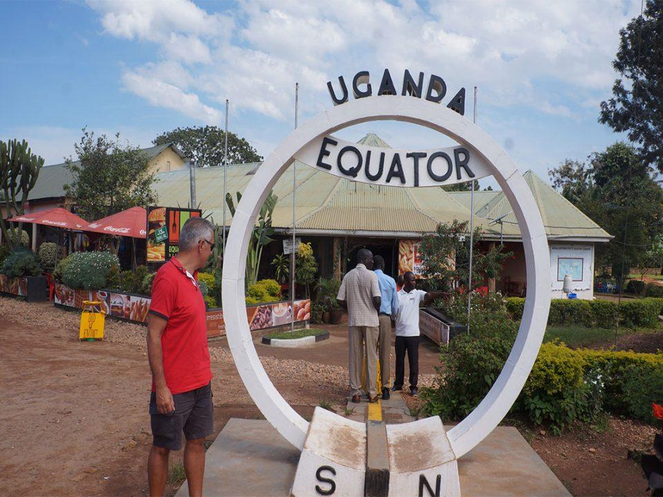 Visiting Equator in Uganda
