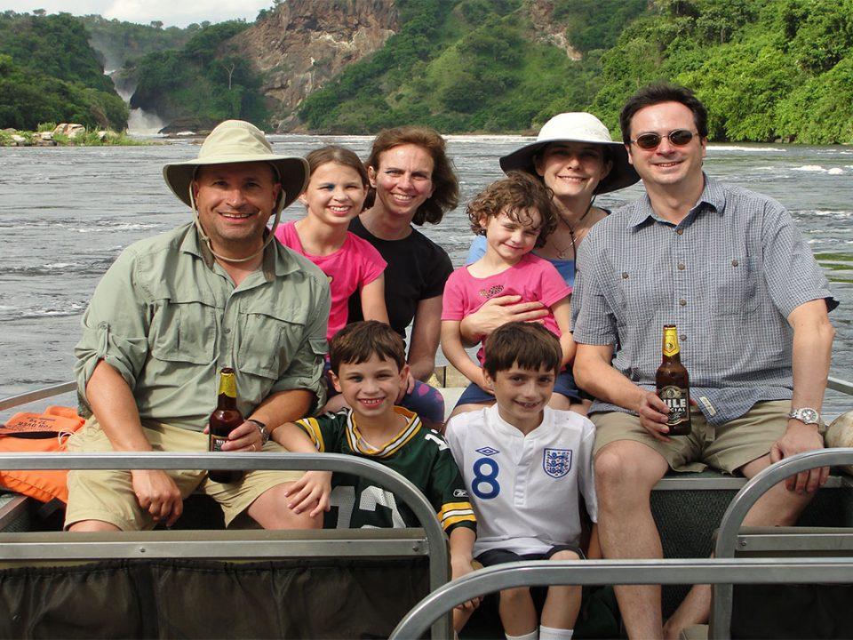 Water fall boat cruise safari on River Nile