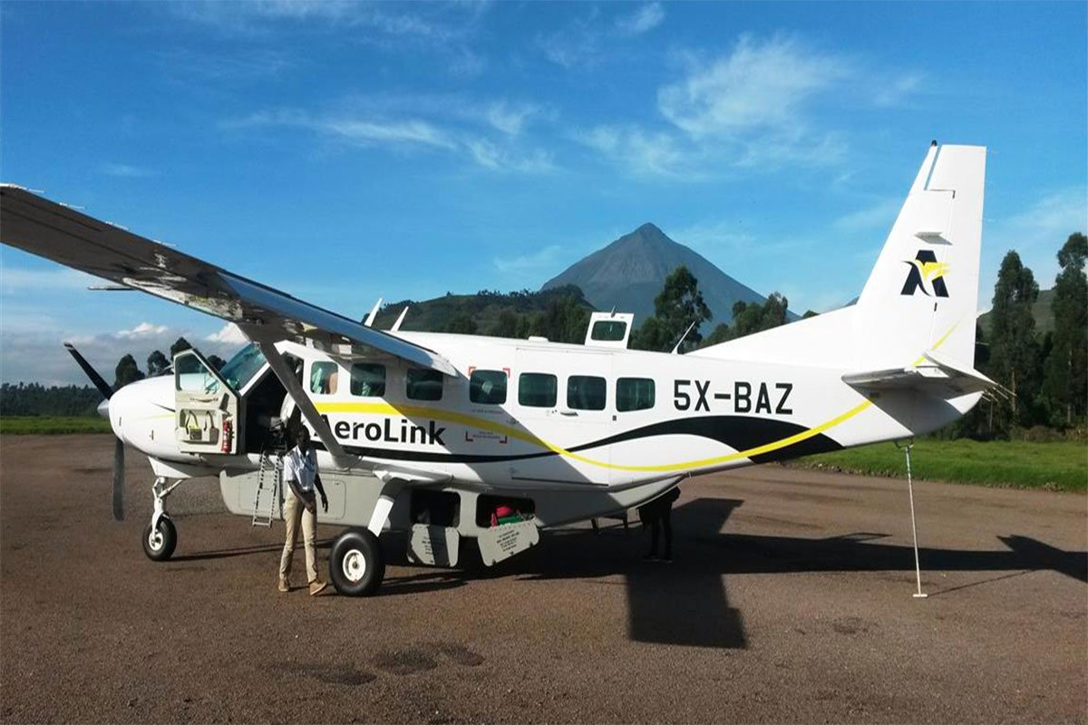 Which airlines fly fom Entebbe to Bwindi
